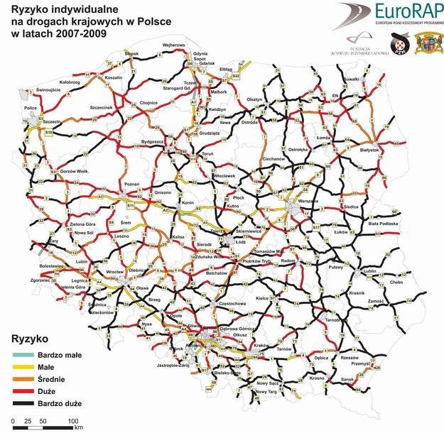 Mapa ryzyka drogowego /