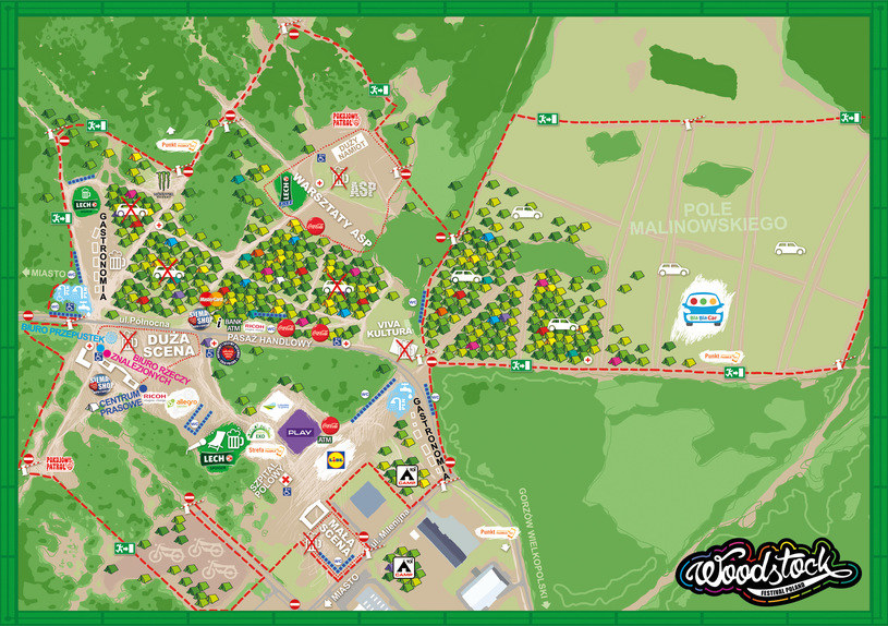 Mapa terenu Przystanku Woodstock /WOŚP