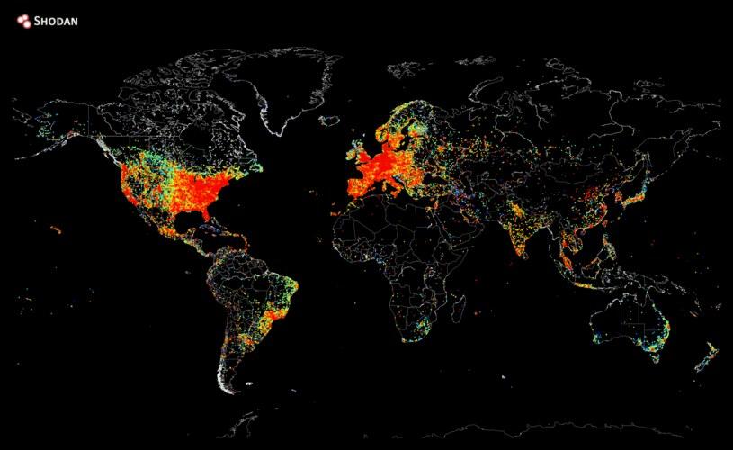 Mapę wszystkich urządzeń podłączonych do internetu. /materiały prasowe