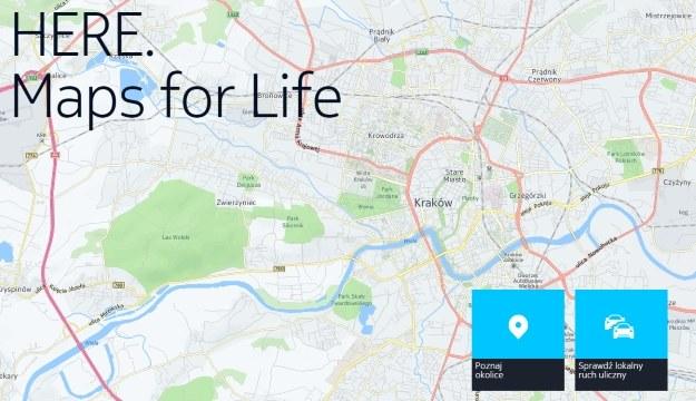 Mapy Here /materiały prasowe