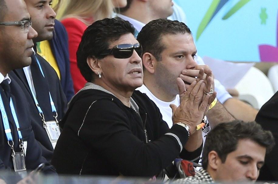 Maradona wierzy, że Argentyna pokona w niedzielę w finale mistrzostw świata Niemców /Ballesteros    /PAP/EPA