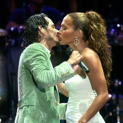 Marc Anthony i Jennifer Lopez /arch. AFP