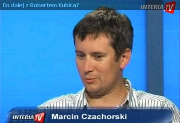 Marcin Czachorski w studiu INTERIA.TV /INTERIA.PL