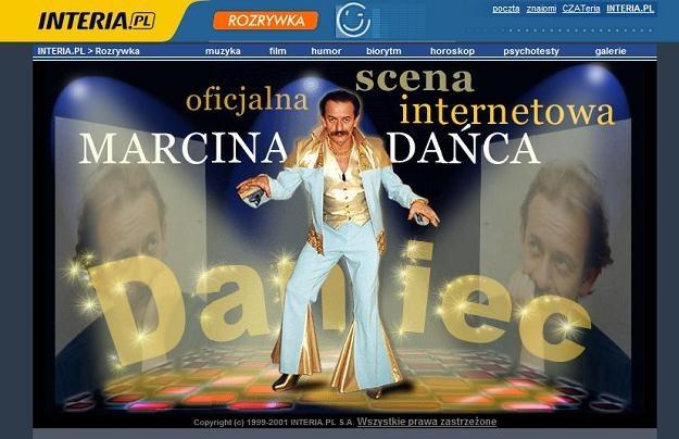 Marcin Daniec na swej oficjalnej stronie www. /INTERIA.PL