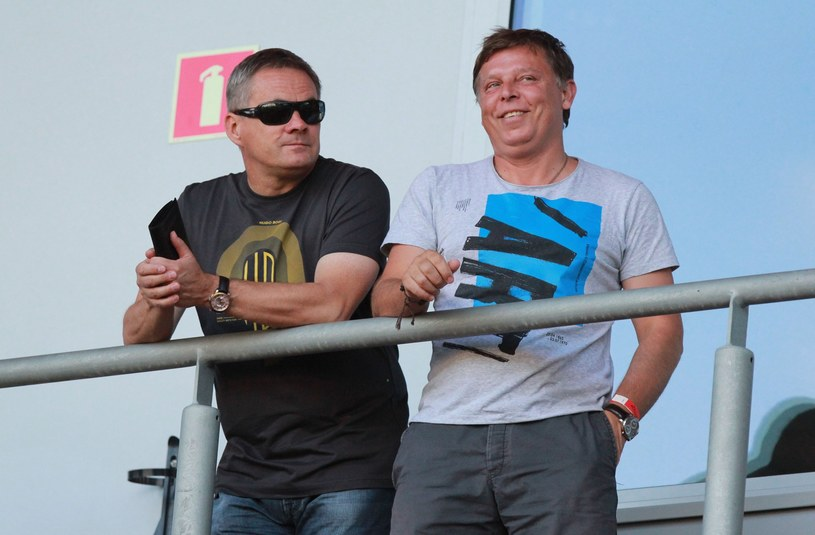 Marcin Jałocha (z prawej), obok trener Jacek Zieliński /Fot. Michał Chwieduk /East News
