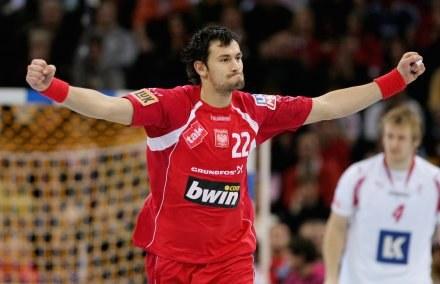 Marcin Lijewski w meczu z Danią zdobył cztery gole Fot. Martin Rose /Getty Images/Flash Press Media