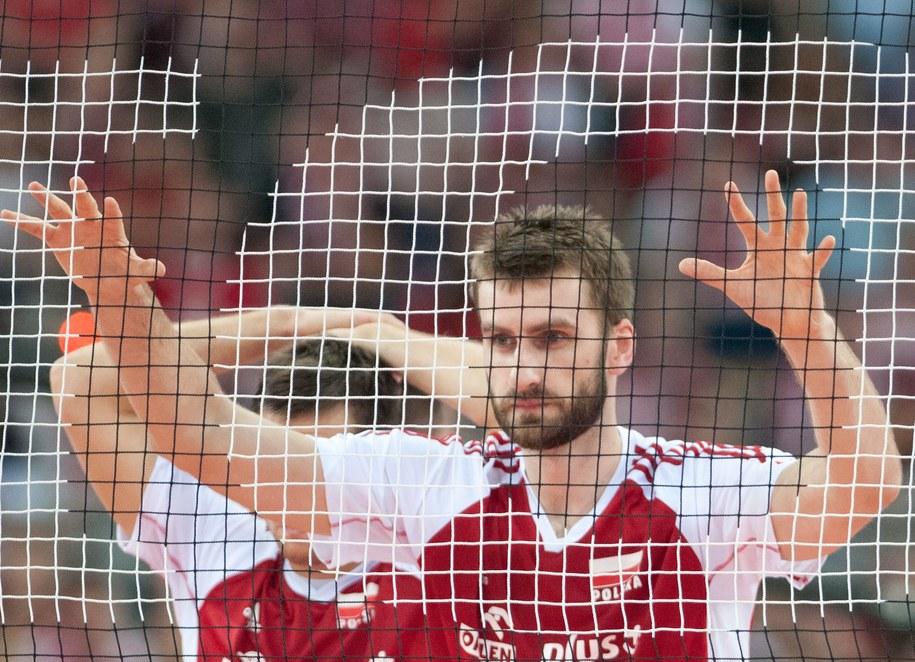 Marcin Możdżonek w meczu grupy A Ligi Światowej siatkarzy Polska - Brazylia /Grzegorz Michałowski /PAP
