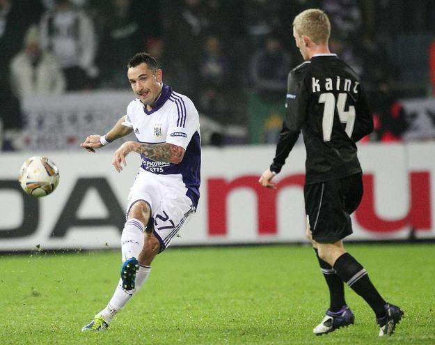 Marcin Wasilewski w barwach Anderlechtu Bruksela /AFP