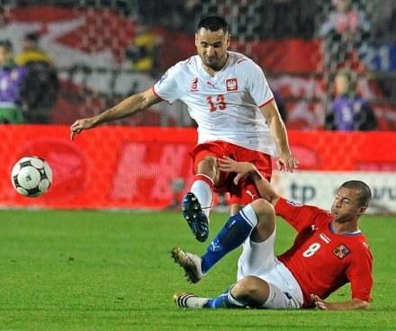Marcin Wasilewski w meczu z Czechami /AFP