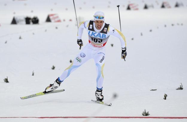 Marcus Hellner - pierwszy na trasie, pierwszy w plebiscycie. /AFP