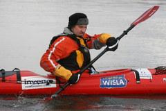 Marek Kamiński płynie Wisłą do Gdańska