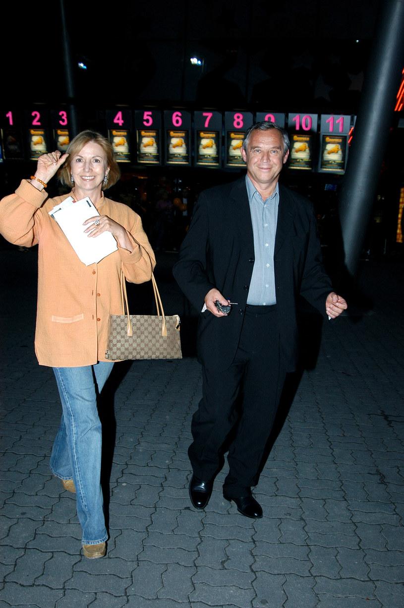 Marek Kondrat z byłą żoną Iloną w 2004 roku /Zawada /AKPA