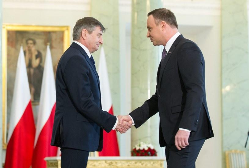 Marek Kuchciński i Andrzej Duda /Bartosz Krupa /East News