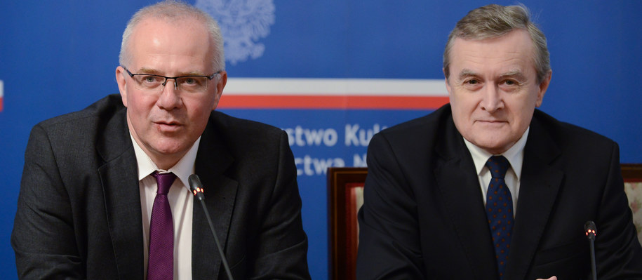 Marek Mikos i Piotr Gliński /PAP/Jakub Kamiński  /PAP