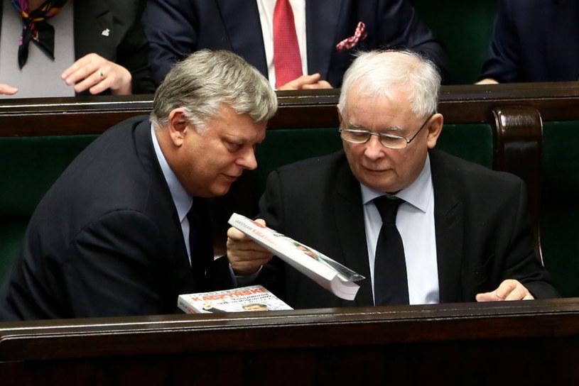 Marek Suski i prezes PiS Jarosław Kaczyński /Tomasz Gzell /PAP