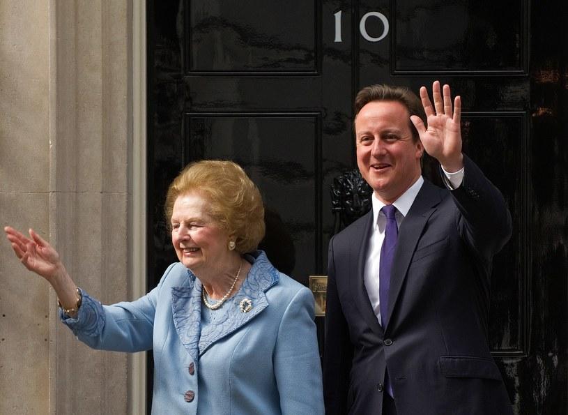 Margaret Thatcher i David Cameron /AFP