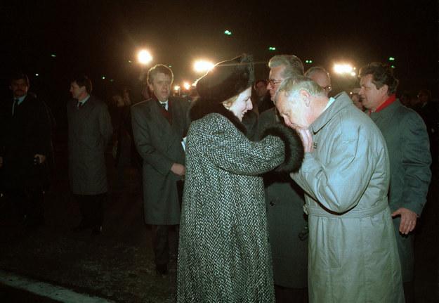 Margaret Thatcher i Mieczysław Rakowski /Jan Morek /Agencja FORUM