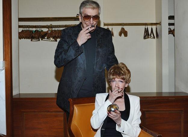 Maria Czubaszek i Wojciech Karolak  fot. Andras Szilagyi /MWMedia
