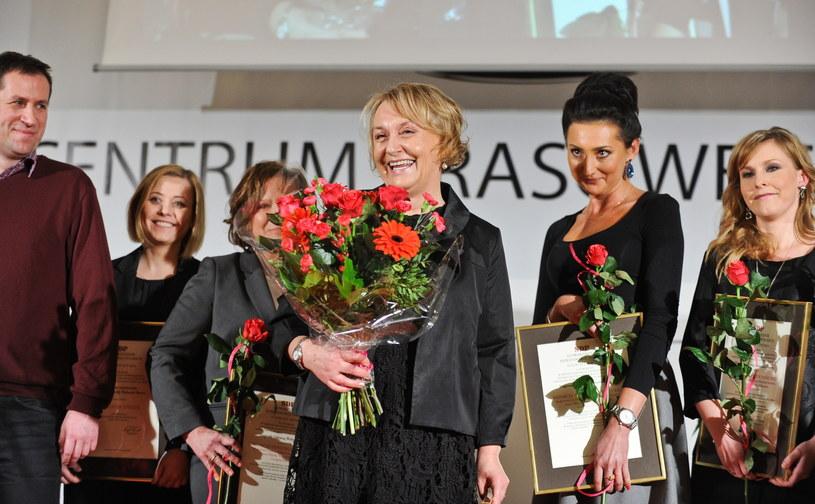 Maria Dłużewska otrzymała Nagrodę Główną Wolności Słowa za 2014 r. w konkursie Stowarzyszenia Dziennikarzy Polskich /Marcin Obara /PAP