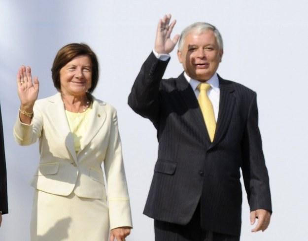 Maria i Lech Kaczyńscy mieli wziąć udział w obchodach 3 maja w USA /AFP