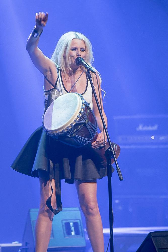 Maria Sadowska podczas koncertu /Damian Grabarski /AKPA