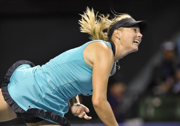 Maria Szarapowa zawiodła w Auckland i jest już za burtą turnieju /AFP