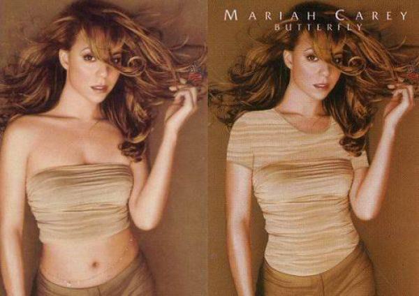 "Mariah Carey na okładkach ""Butterfly"" /"
