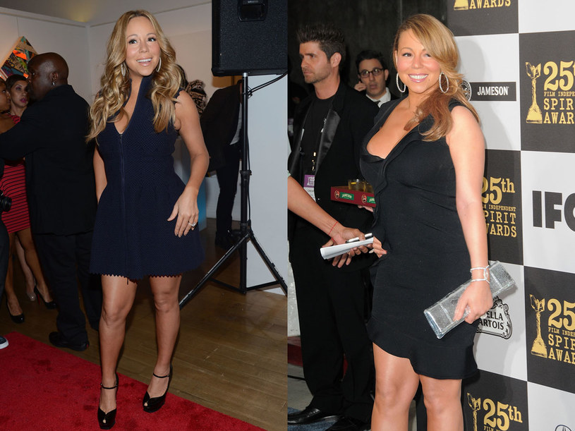 Mariah Carey (po lewej - 2012 rok, po prawej - 2012 rok) /- /Getty Images