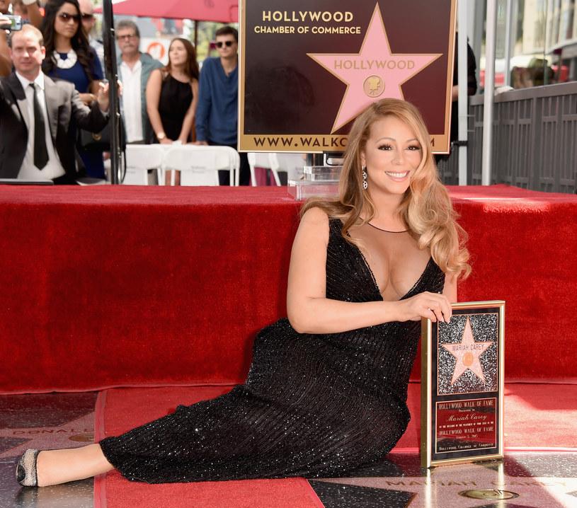 Mariah Carey podczas odsłony swojej gwiazdy w Alei Sław w Hollywood /Kevin Winter /Getty Images