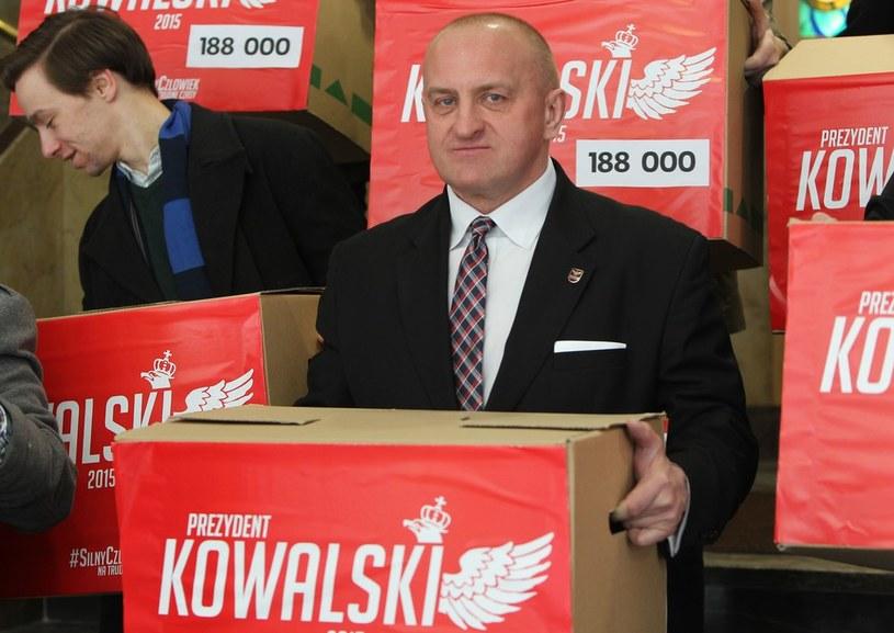 Marian Kowalski - kandydat Ruchu Narodowego w wyborach prezydenckich /Kowalczuk Stanisław /East News