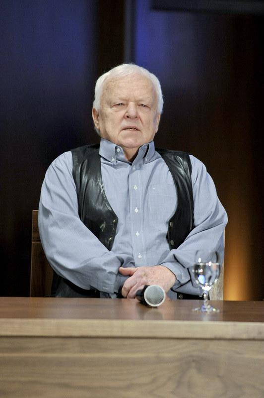 """Marian Opania na konferencji serialu """"Prawo Agaty"""" /Piętka Mieszko /AKPA"""
