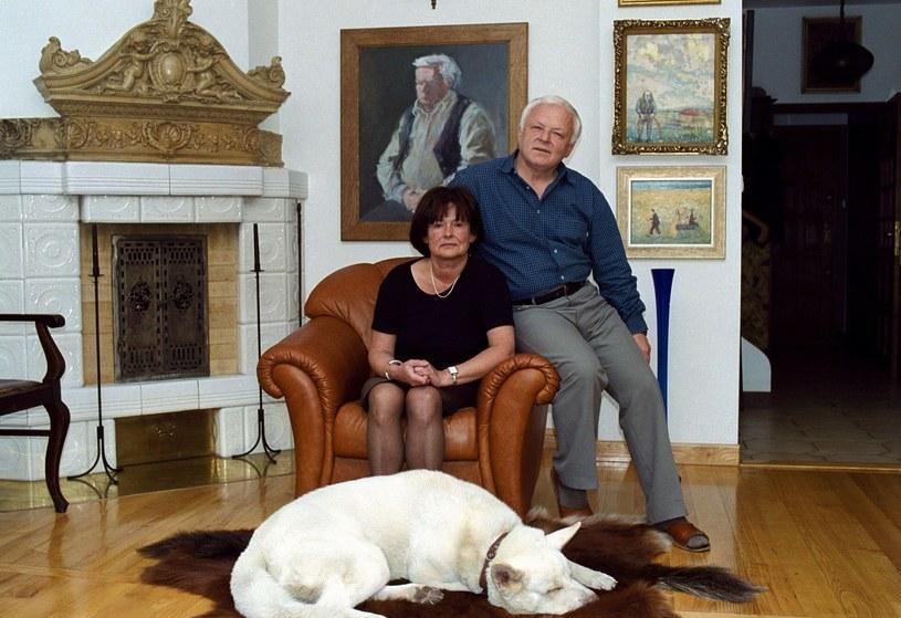 Marian Opania z żoną /Maciej Billewicz /East News