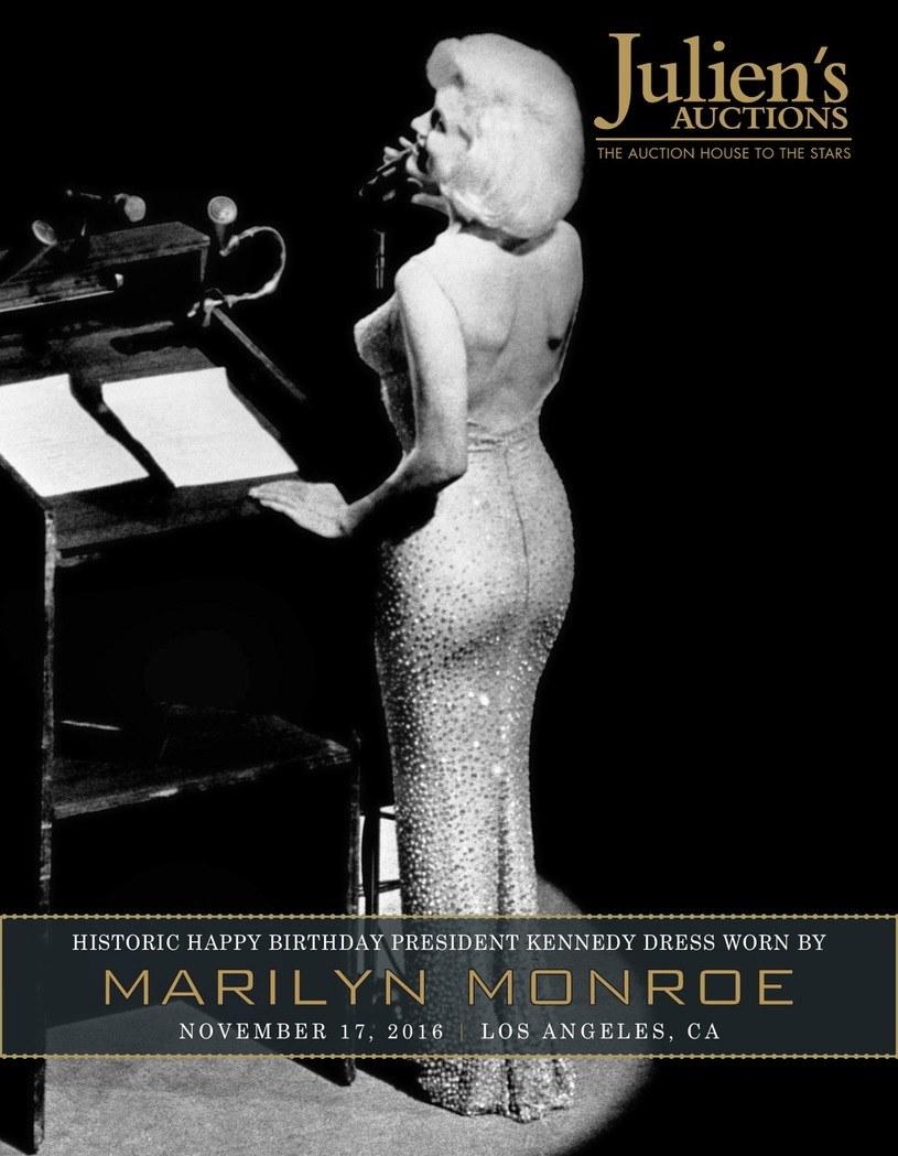 Marilyn Monroe w trakcie składania urodzinowych życzeń prezydentowi USA /Ferrari Press / Juien's Auctions /East News