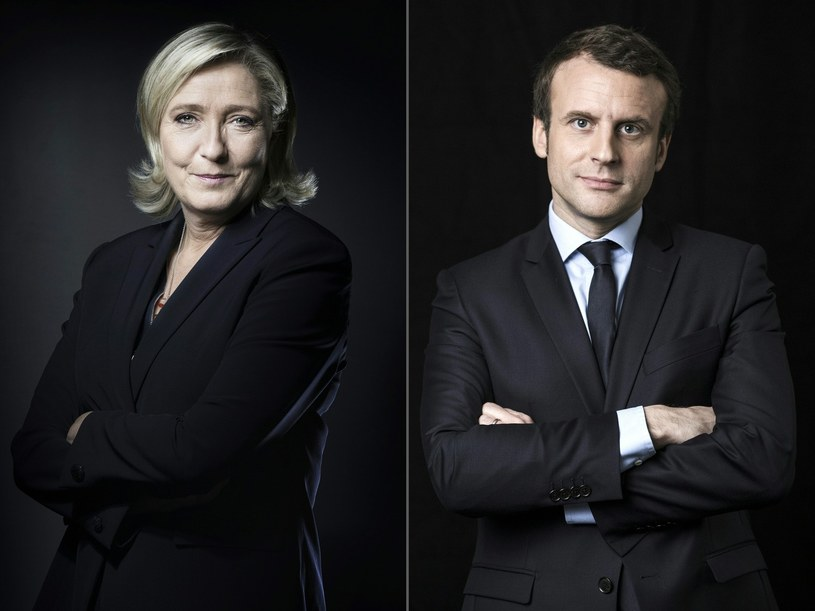 Marine Le Pen i Emmanuel Macron /AFP