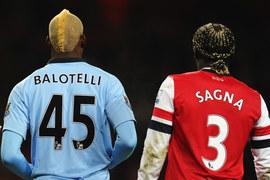 Mario Balotelli i Bacary Sagna zawsze mają coś oryginalnego na głowach