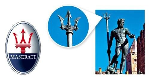 Mario Maserati dokładnie skopiował kształt trójzębu z pomnika do znaku firmowego. /Motor