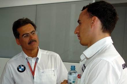 Mario Theissen z Robertem Kubicą / Kliknij /INTERIA.PL