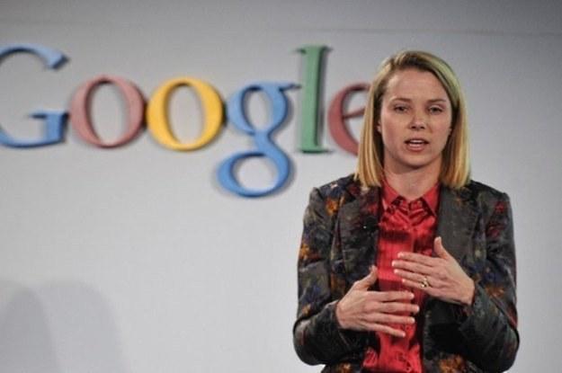 Marissa Mayer - pierwsza dama Google, która rządzi z drugiego rzędu /AFP