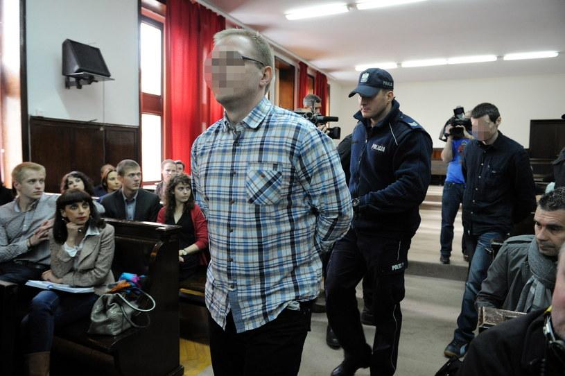 Mariusz B. (L) i Krzysztof R. (P) na sali sądowej /Grzegorz Jakubowski /PAP
