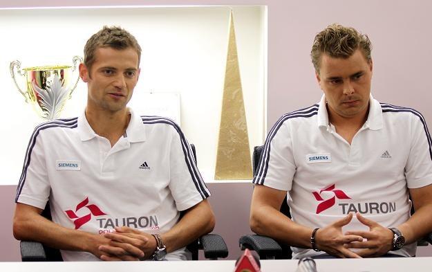 Mariusz Fyrstenberg (z lewej) i Marcin Matkowski/fot. Bartłomiej Zborowski /PAP