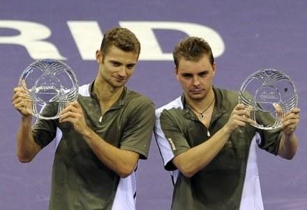 Mariusz Fyrstenberg (z lewej) i Marcin Matkowski /AFP