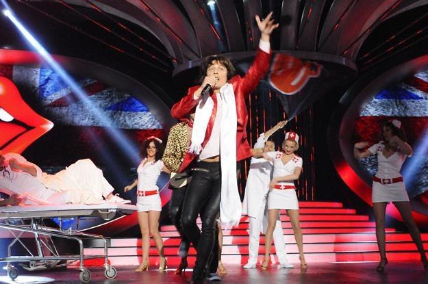 Mariusz Totoszko w roli Micka Jaggera /Polsat