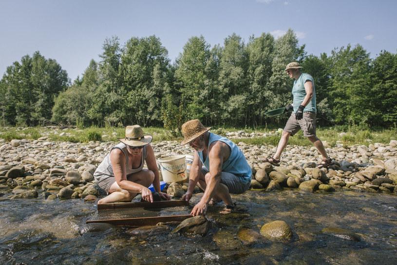 Marlise Luedi i jej mąż Willi szukają złota w rzece Elvro /The New York Times Syndicate