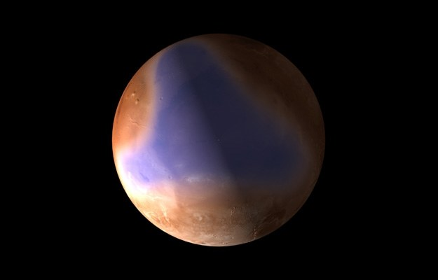 Marsjański ocean - wizualizacja.   Fot. ESA, C. Carreau /materiały prasowe