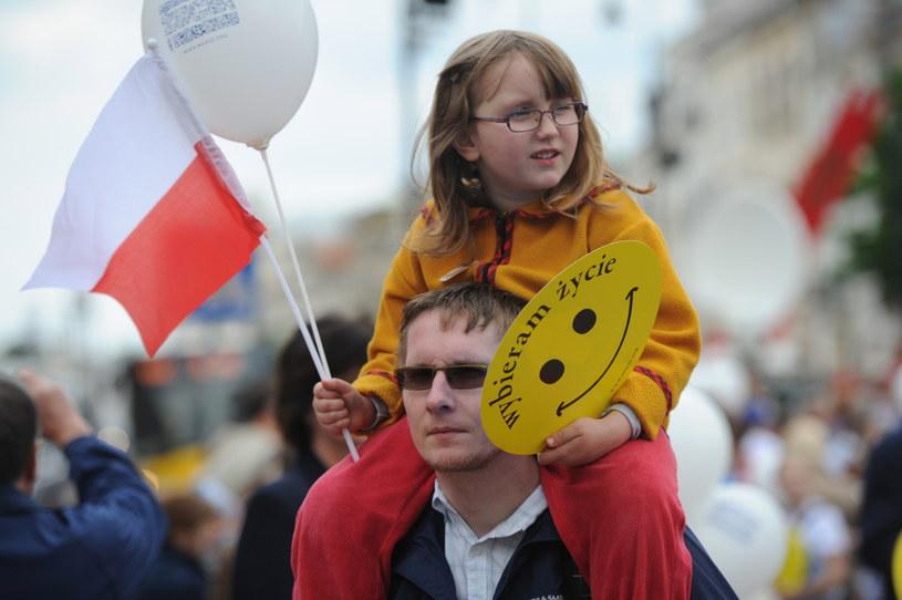 Marsz dla Życia i Rodziny na ulicach Warszawy /Grzegorz Jakubowski /PAP