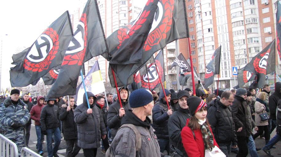 Marsz nacjonalistów w Moskwie /Przemysław Marzec /RMF FM