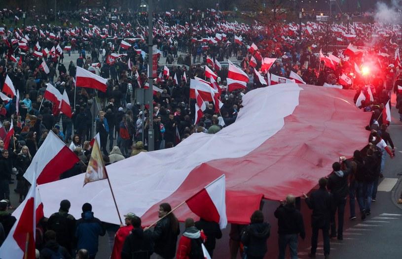 Marsz Niepodległości 11 listopada 2015 roku /Michał Dyjuk /Reporter