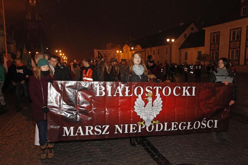 Marsz Niepodległości w Białymstoku /Artur Reszko /PAP