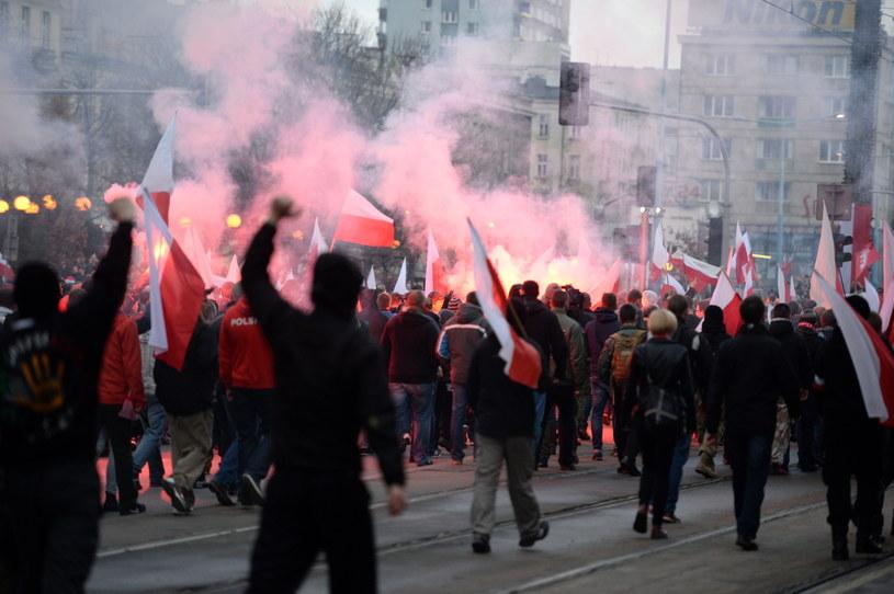 Marsz Niepodległości w Warszawie /Jacek Turczyk /PAP