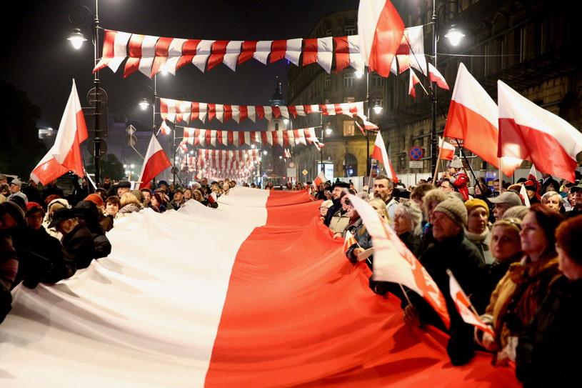 Marsz PiS w Warszawie /Tomasz Gzell /PAP